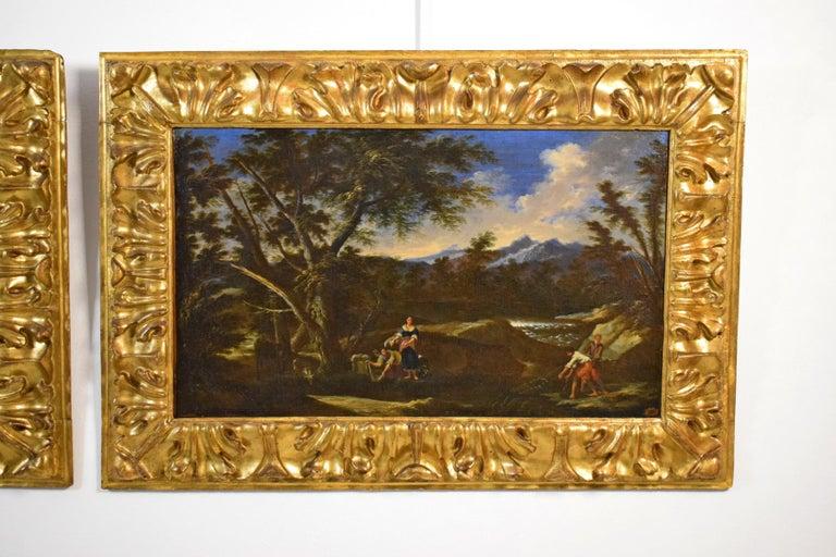 18th Century Pair of Italian Scenes of Country Life, Antonio Francesco Peruzzini For Sale 1