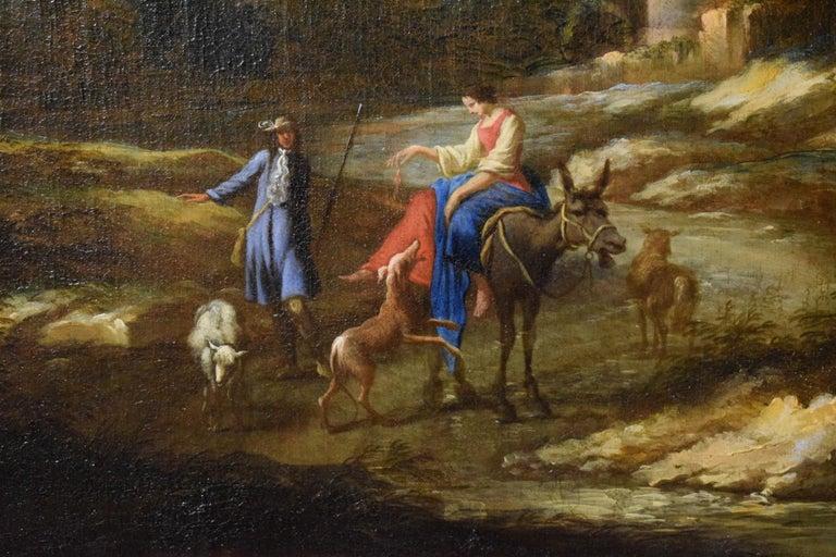 18th Century Pair of Italian Scenes of Country Life, Antonio Francesco Peruzzini For Sale 2