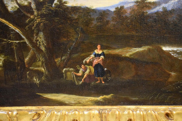 18th Century Pair of Italian Scenes of Country Life, Antonio Francesco Peruzzini For Sale 3