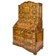 18th Centurey Baroque Walnut Tabernacle / Secretaire