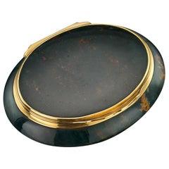 18th Century 18-Karat Gold-Mounted Hardstone Snuff Box, circa 1790