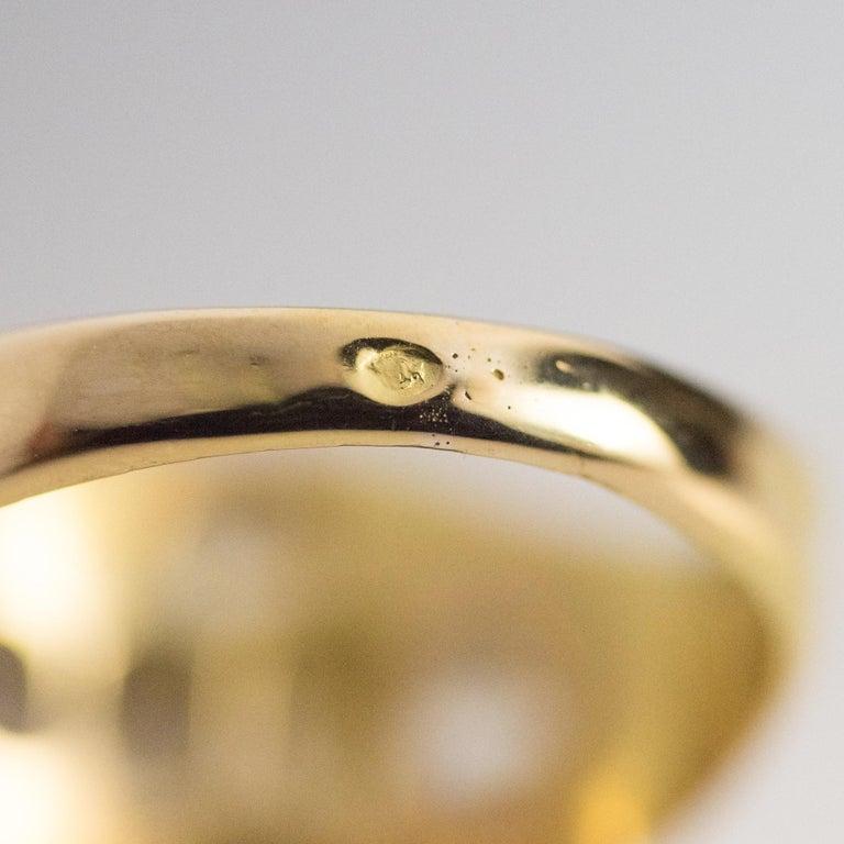 18th Century 18 Karat Yellow Gold 0.40 Carat Diamond Ring For Sale 8