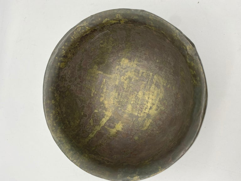 18th Century and Earlier 18th Century Chinese Lacquer Bowl with Pewter For Sale