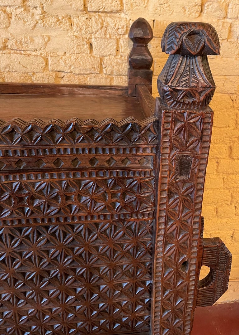 Hardwood 18th Century Afghan Chest or Buffet For Sale