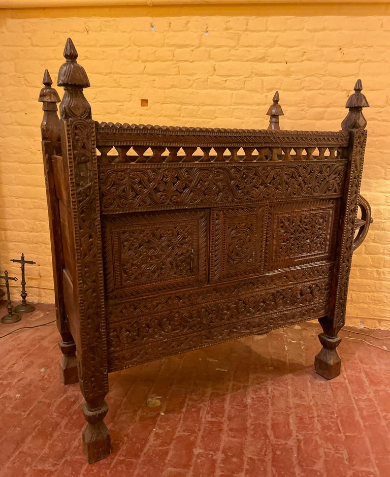 18th Century Afghan Wedding Chest For Sale 4