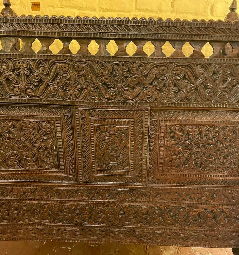 Aesthetic Movement 18th Century Afghan Wedding Chest For Sale