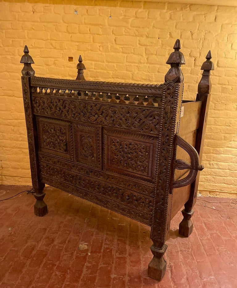 Hardwood 18th Century Afghan Wedding Chest For Sale