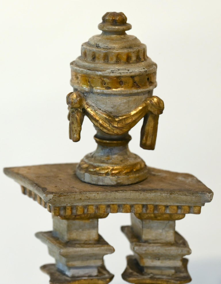 Louis XVI 18th Century Altar Modell, South Germany, with Original Painting, Wood For Sale