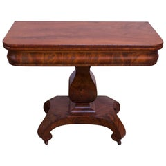 18th Century American Empire Mahogany Parlor / Game Table with Flip Top