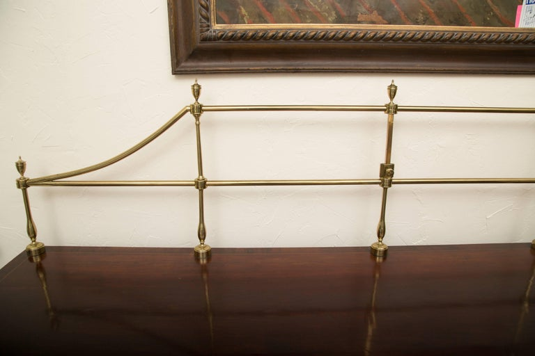 18th Century American Hepplewhite Mahogany Sideboard with Brass Gallery For Sale 6