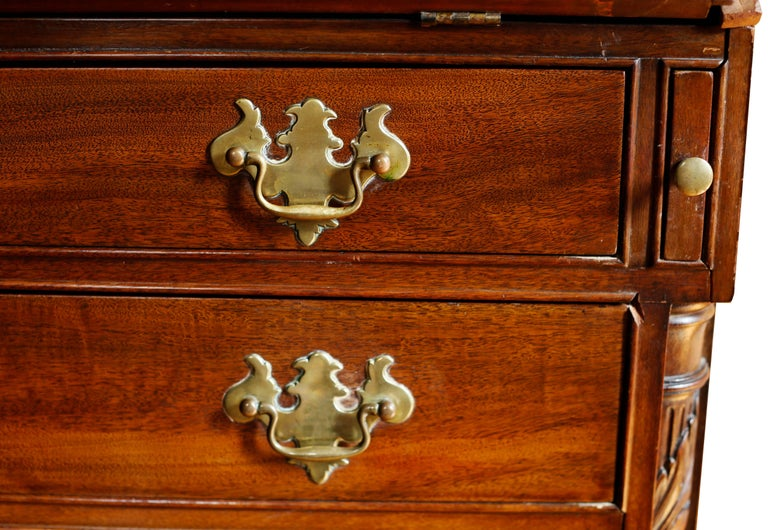 18th Century American Mahogany Chippendale Chest, circa 1770 For Sale 6