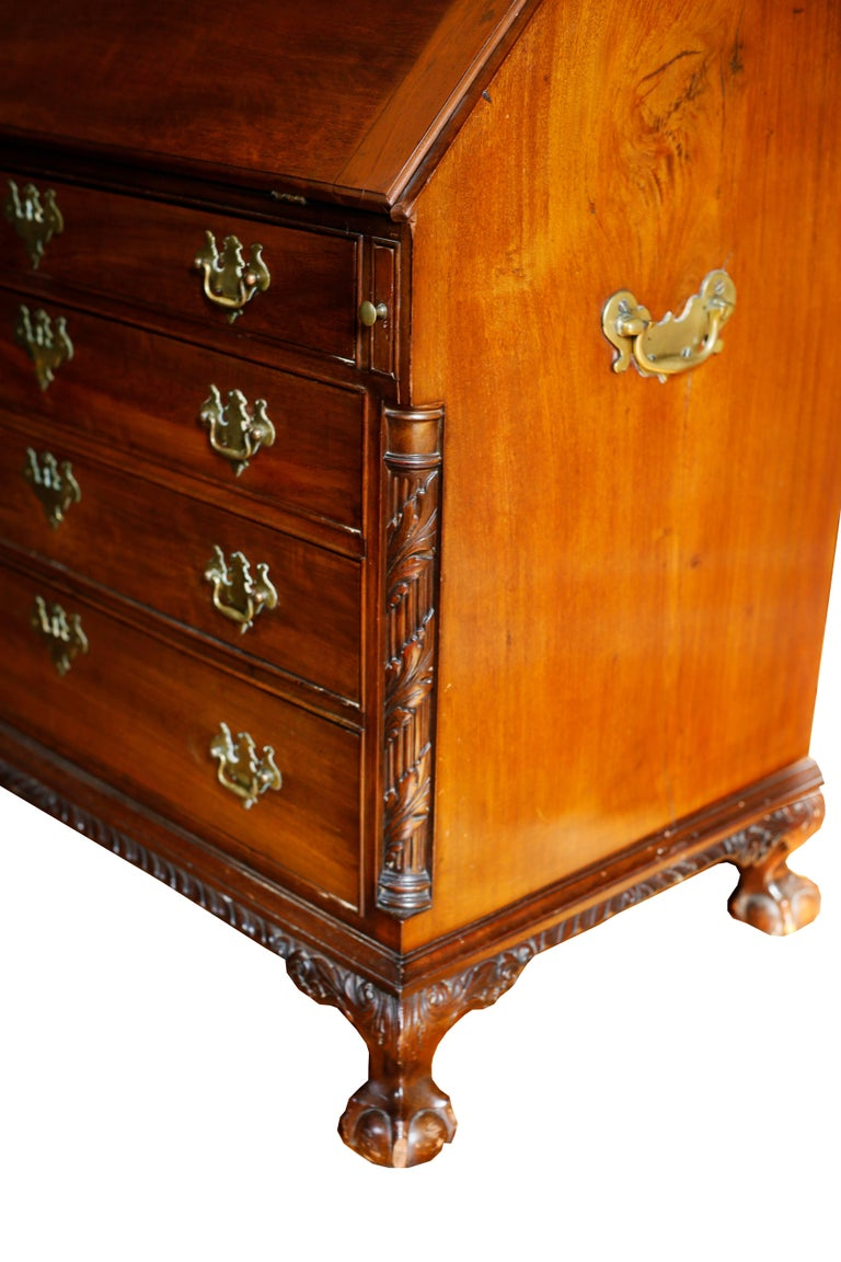 18th Century American Mahogany Chippendale Chest, circa 1770 For Sale 4
