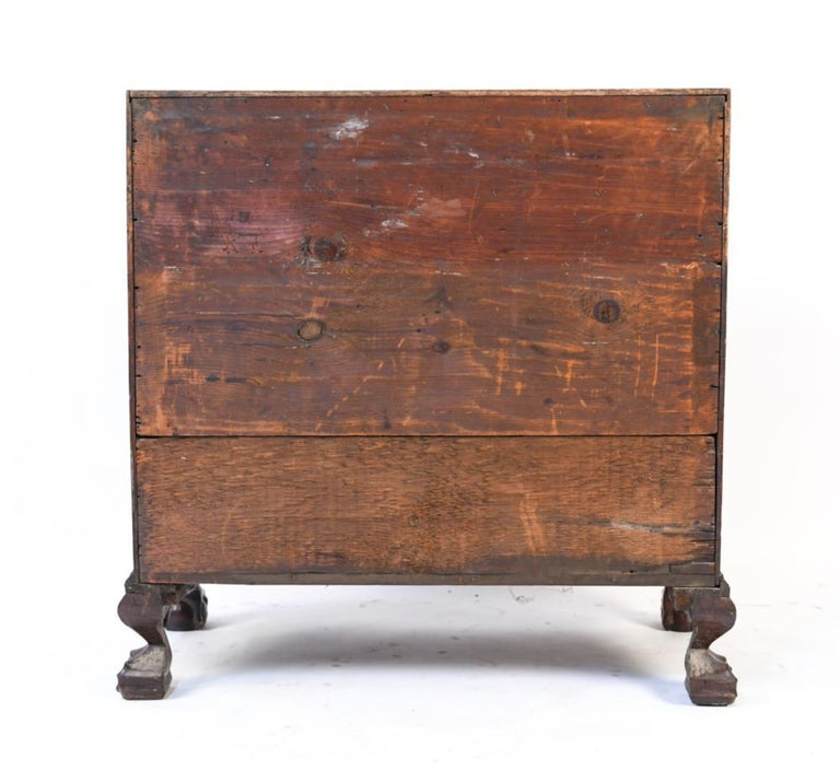 18th Century American Mahogany Chippendale Slant Front Desk For Sale 1