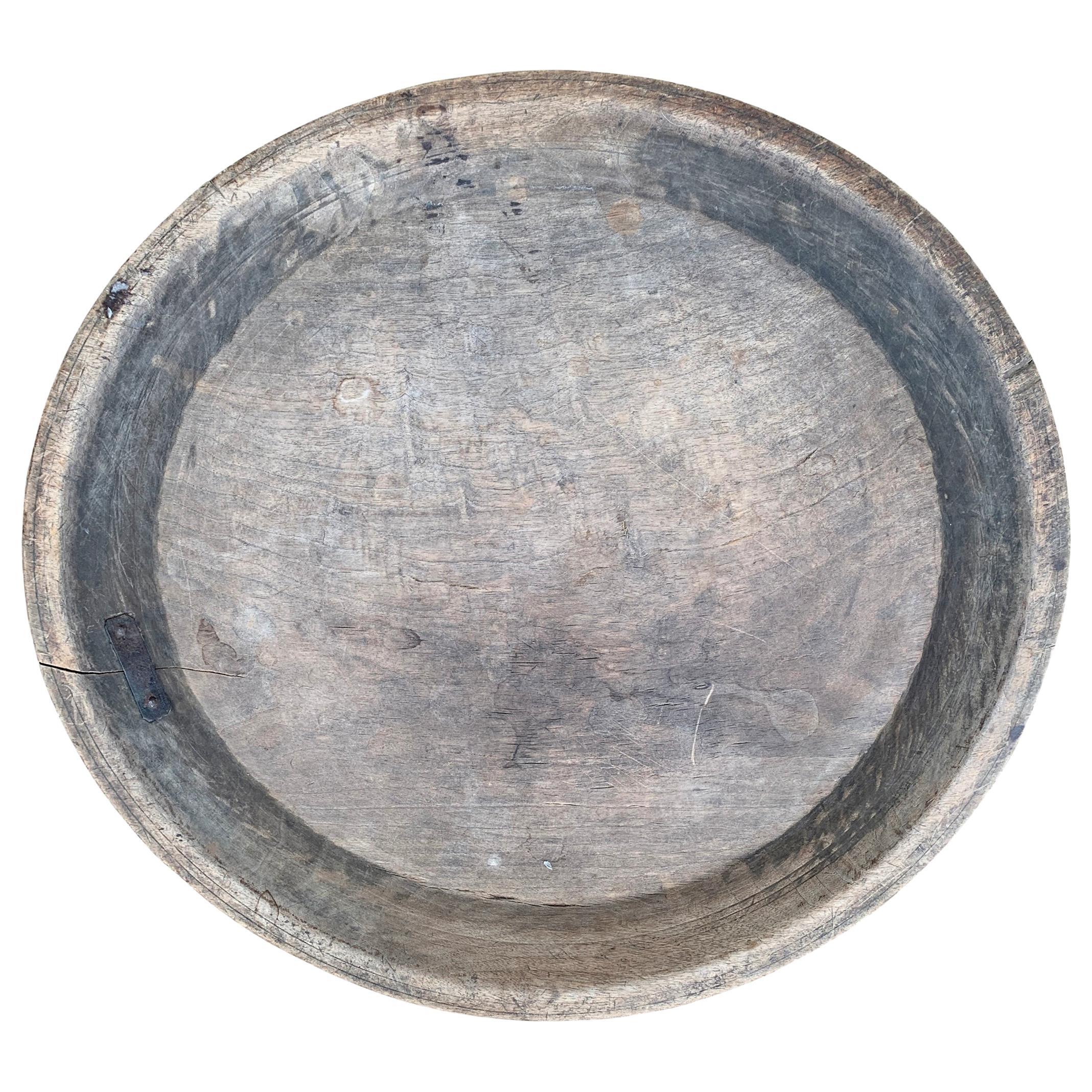18th Century American Turned Wood Platter