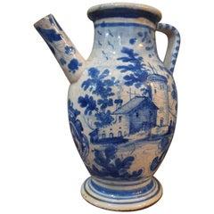 18th Century Ancient Faenza Pharmacy Jar Full Painted