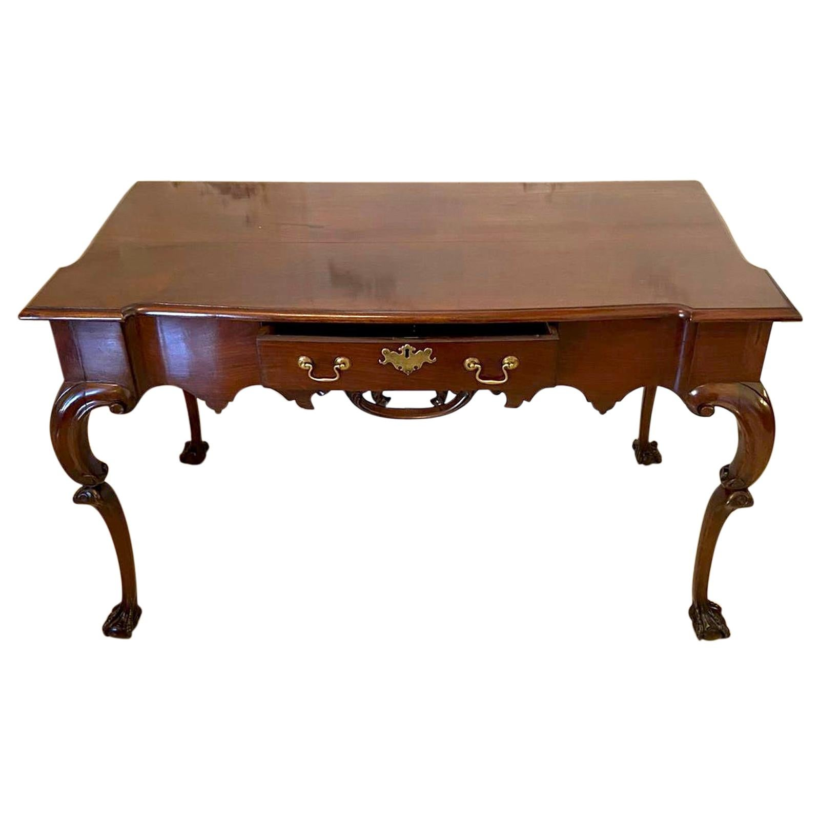 18th Century Antique American Chippendale Serving Table