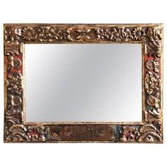 18th Century Antique Baroque Style Giltwood Mirror
