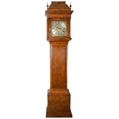 18th Century Antique Burr-Yew Longcase Clock by John Stephens of London