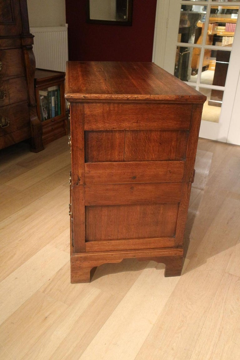18th Century Antique Chest of Drawers in Walnut and Oak For Sale 5