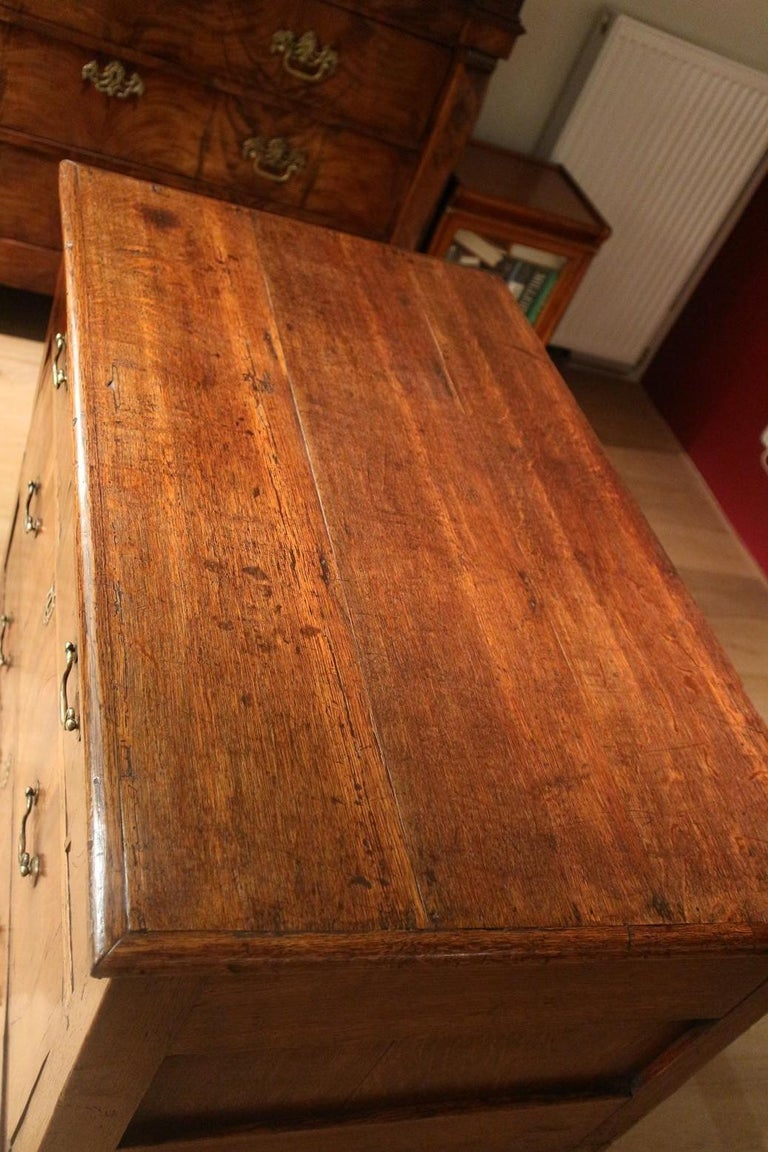 18th Century Antique Chest of Drawers in Walnut and Oak For Sale 3