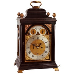 18th Century Antique Ebonized Bracket Clock by William Allam of London
