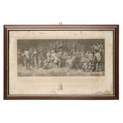 18th Century Antique Engraving by Italian Artist Angelo Campanella
