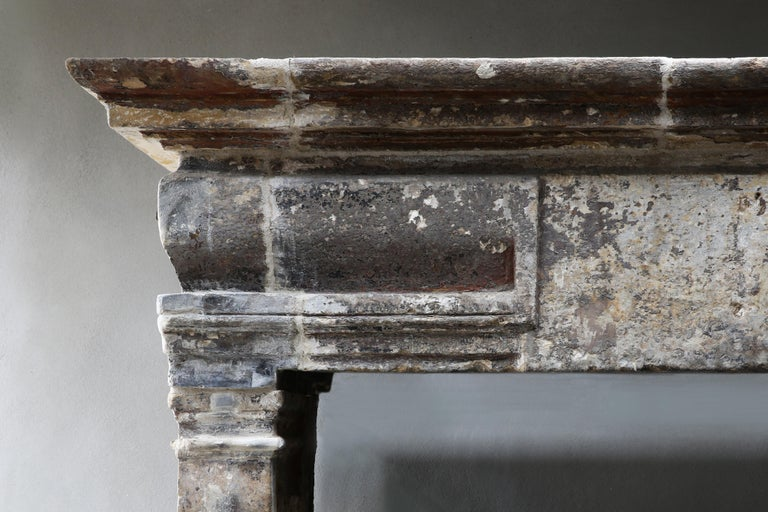 18th Century Antique Fireplace in Style of Louis XIII In Good Condition For Sale In Made, NL