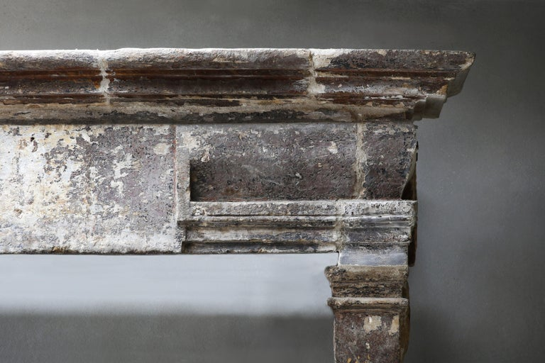 18th Century and Earlier 18th Century Antique Fireplace in Style of Louis XIII For Sale