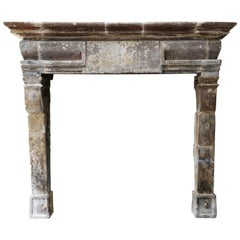 18th Century Antique Fireplace in Style of Louis XIII