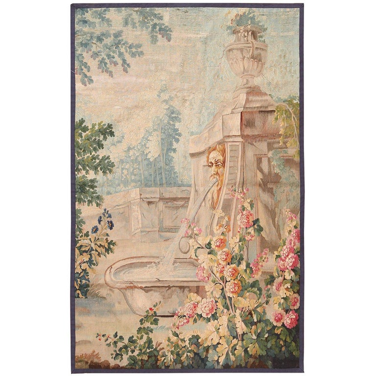 18th Century Antique French Beauvais Tapestry 4 ft 4 in x 6 ft 9 in For Sale
