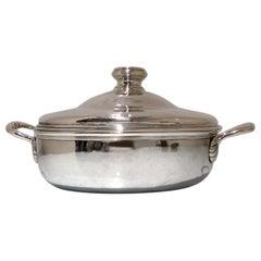 Antique French Silver Entree Dish circa 1765 Paris Guillaume Pigeron