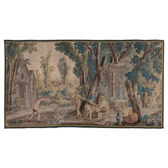 18th Century Antique French Tapestry, Pictorial Field