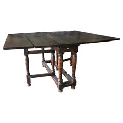 18th Century Antique French Walnut Drop-Leaf Table