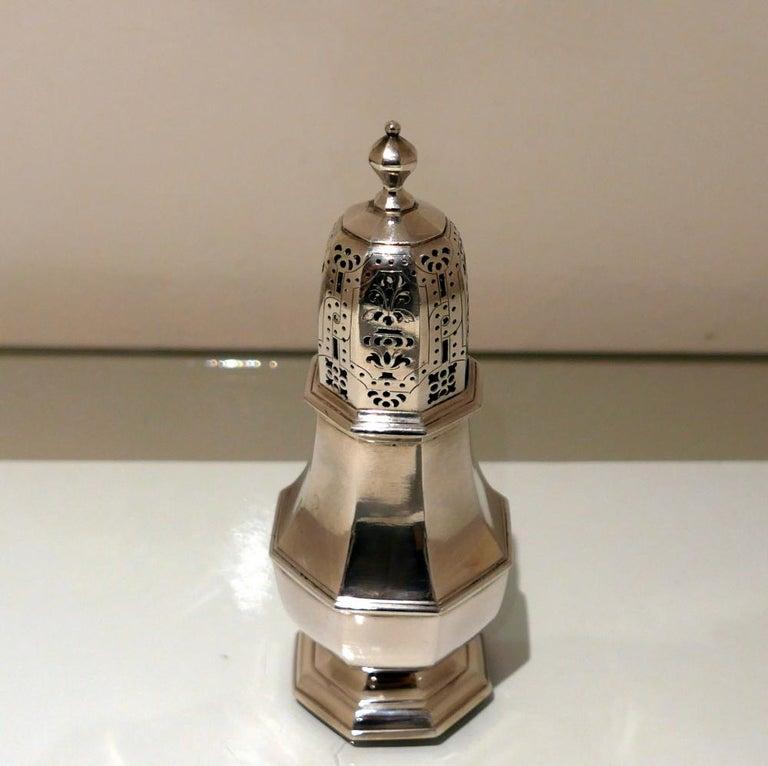 English 18th Century Antique George I Britannia Silver Sugar Caster London 1717 C Adam For Sale