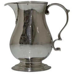 18th Century Antique George II Sterling Silver Pitcher Cream Jug London, 1738