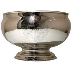 18th Century Antique George II Sterling Silver Punch Bowl London 1735 John Swift