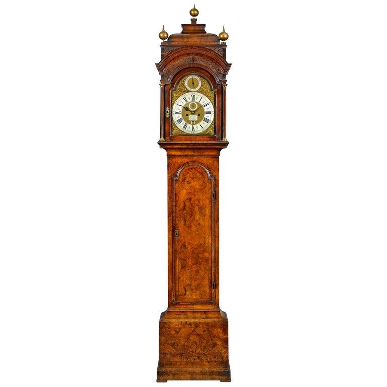 18th Century Antique Walnut Longcase Clock by James Blackborow of London