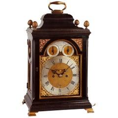 18th Century Antique George III Ebonized Bracket Clock by William Allam, London