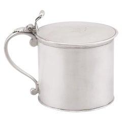 18th Century Antique George III Sterling Silver Drum Mustard Pot - 1776