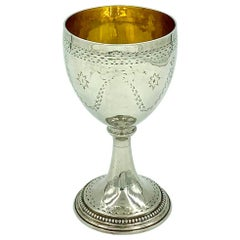 18th Century Antique George III Sterling Silver Goblet, London, 1782