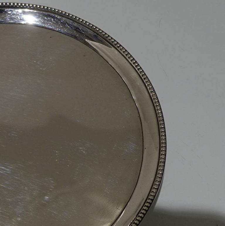 British 18th Century Antique George III Sterling Silver Salver London1783 Hester Bateman For Sale