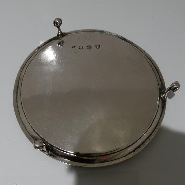 18th Century Antique George III Sterling Silver Salver London1783 Hester Bateman For Sale 1