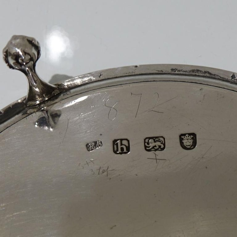 18th Century Antique George III Sterling Silver Salver London1783 Hester Bateman For Sale 2