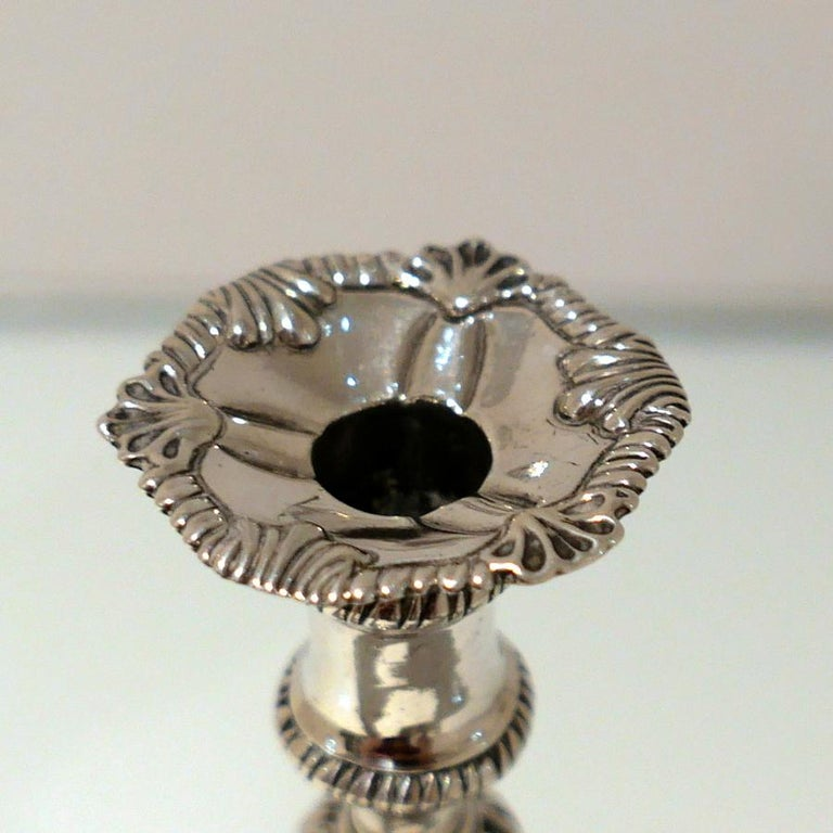18th Century Antique George III Sterling Silver Taperstick London 1768 E Coker For Sale 1