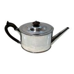 18th Century Antique George III Sterling Silver Teapot London Hester Bateman