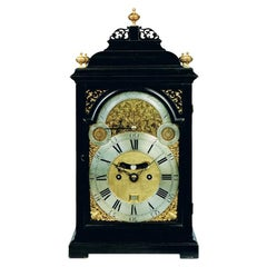 18th Century Antique Georgian Ebonized Bracket Clock by William Scafe of London