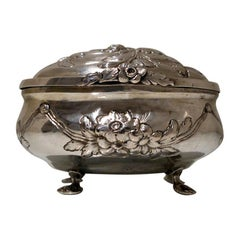 18th Century Antique German Oval Silver Sugar Box Berlin circa 1790 F J Stoltz