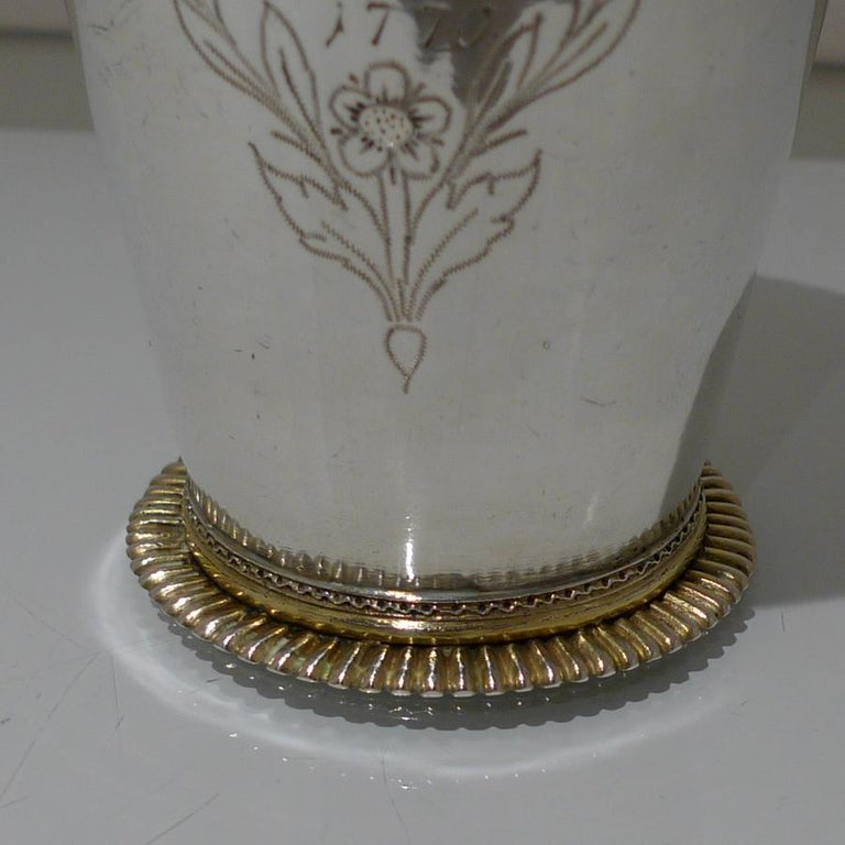 18th Century Antique Large Silver Beaker Probably Baltic circa 1770 'Maker FR' In Good Condition For Sale In 53-64 Chancery Lane, London
