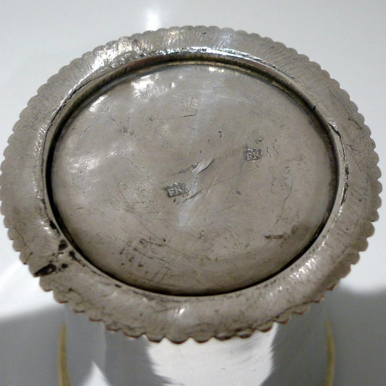 18th Century Antique Large Silver Beaker Probably Baltic circa 1770 'Maker FR' For Sale 2