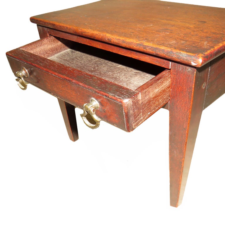 A charming late 18th century mahogany miniature side